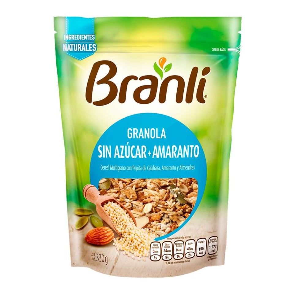 Granola sin azúcar con amaranto