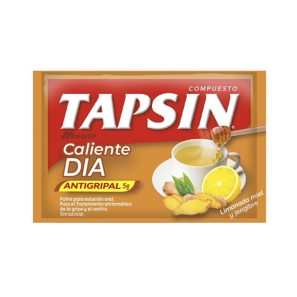 Tapsin Compuesto Antigripal Caliente Dia Limon, Miel, Jengibre Polvo Para Solucion Oral 1 Sobre