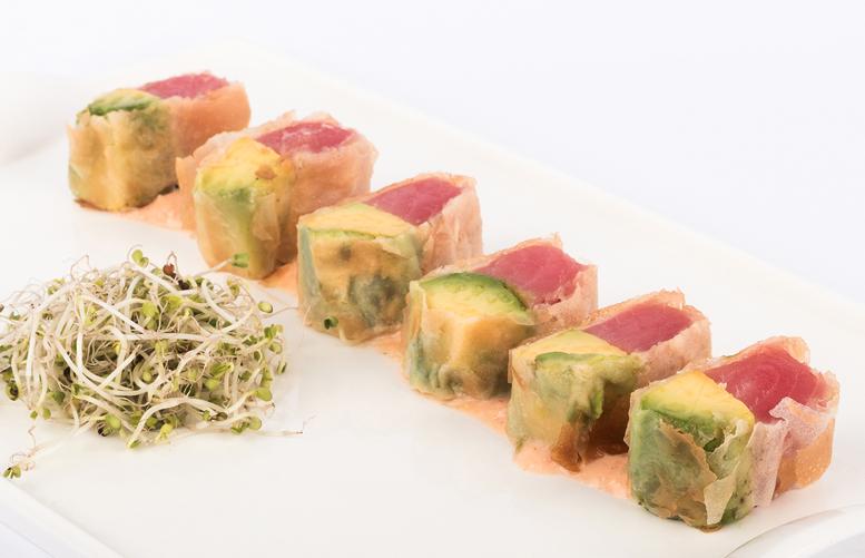 Rolls crispy de atún spicy