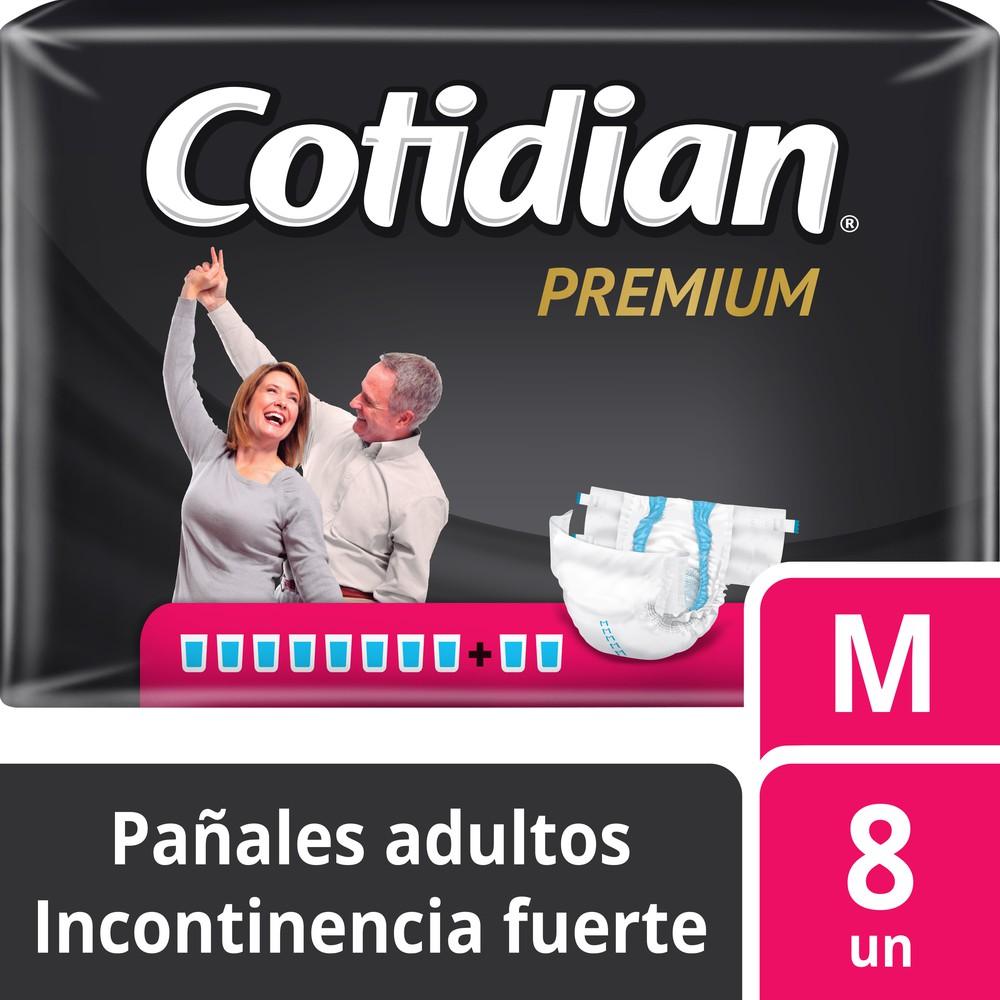 Pañal adulto premium incontinencia fuerte talla M