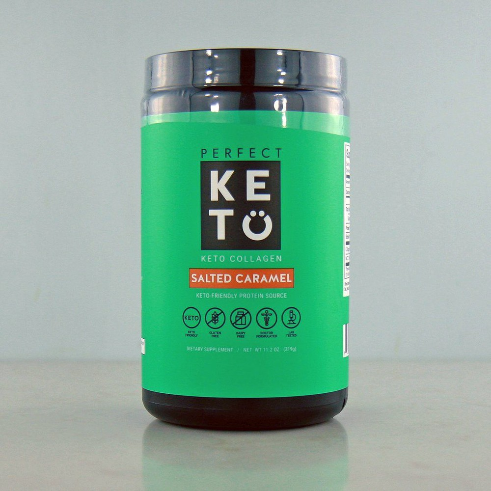 Grass-fed keto collagen, salted caramel (with mct)