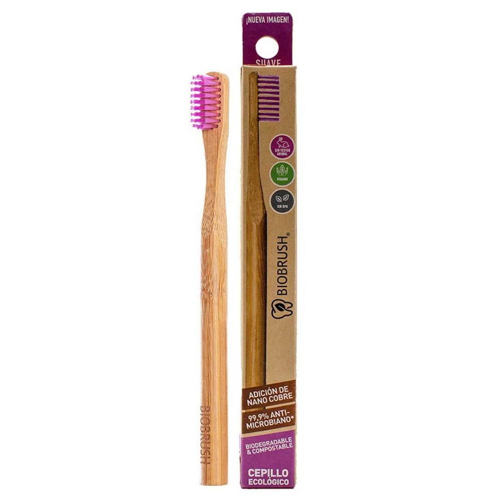 Cepillo dental biodegradable morado