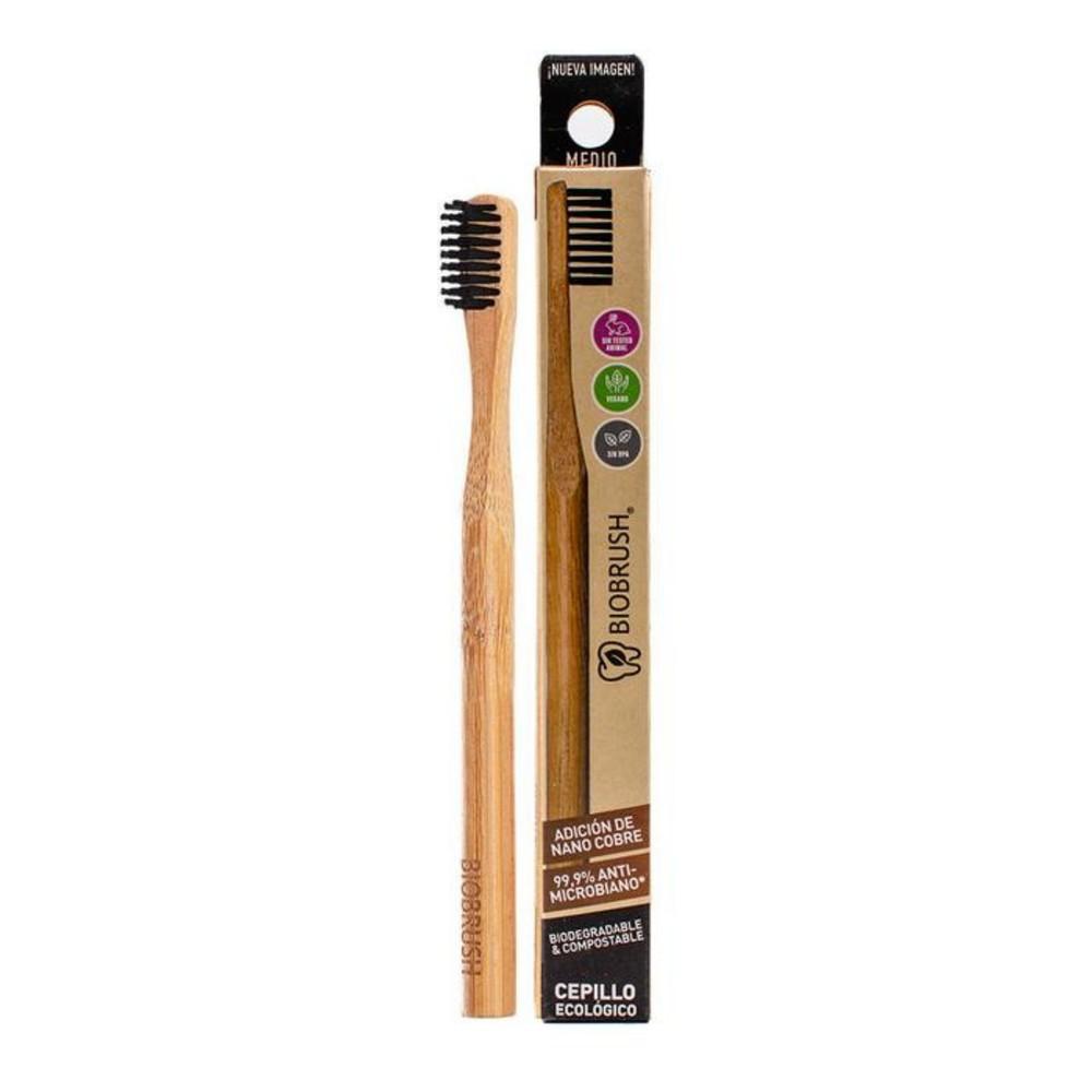 Cepillo dental biodegradable negro medio