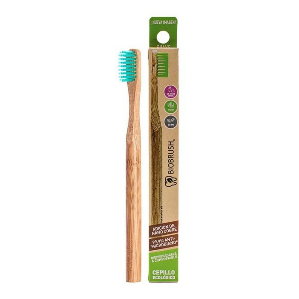 Cepillo dental biodegradable verde