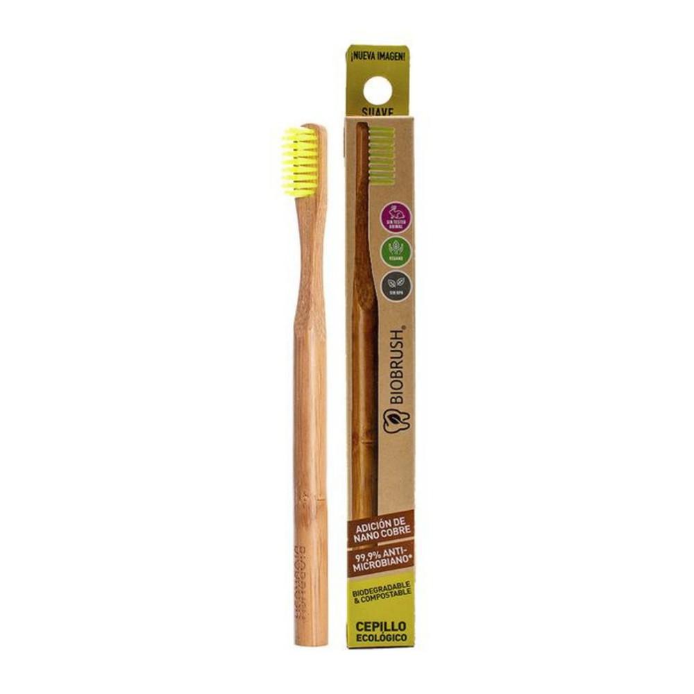 Cepillo dental biodegradable amarillo