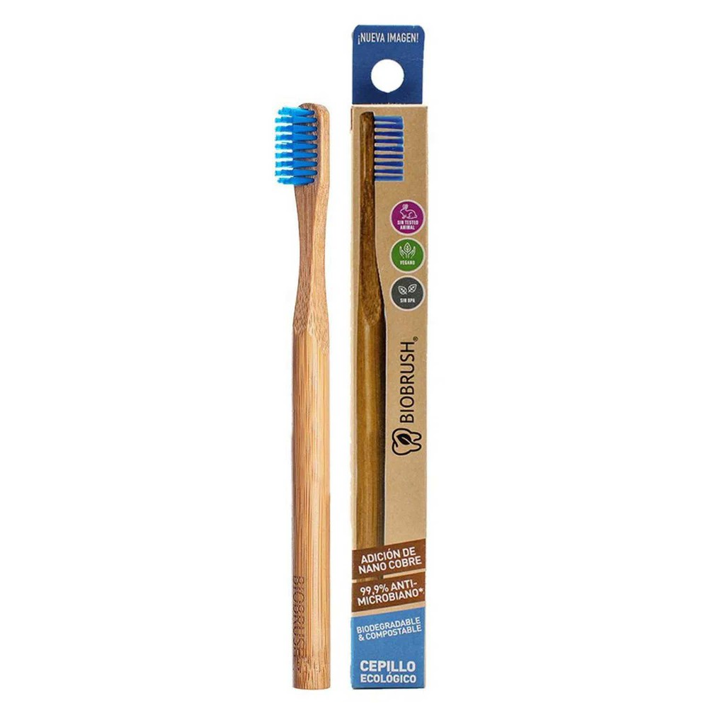 Cepillo dental biodegradable azul