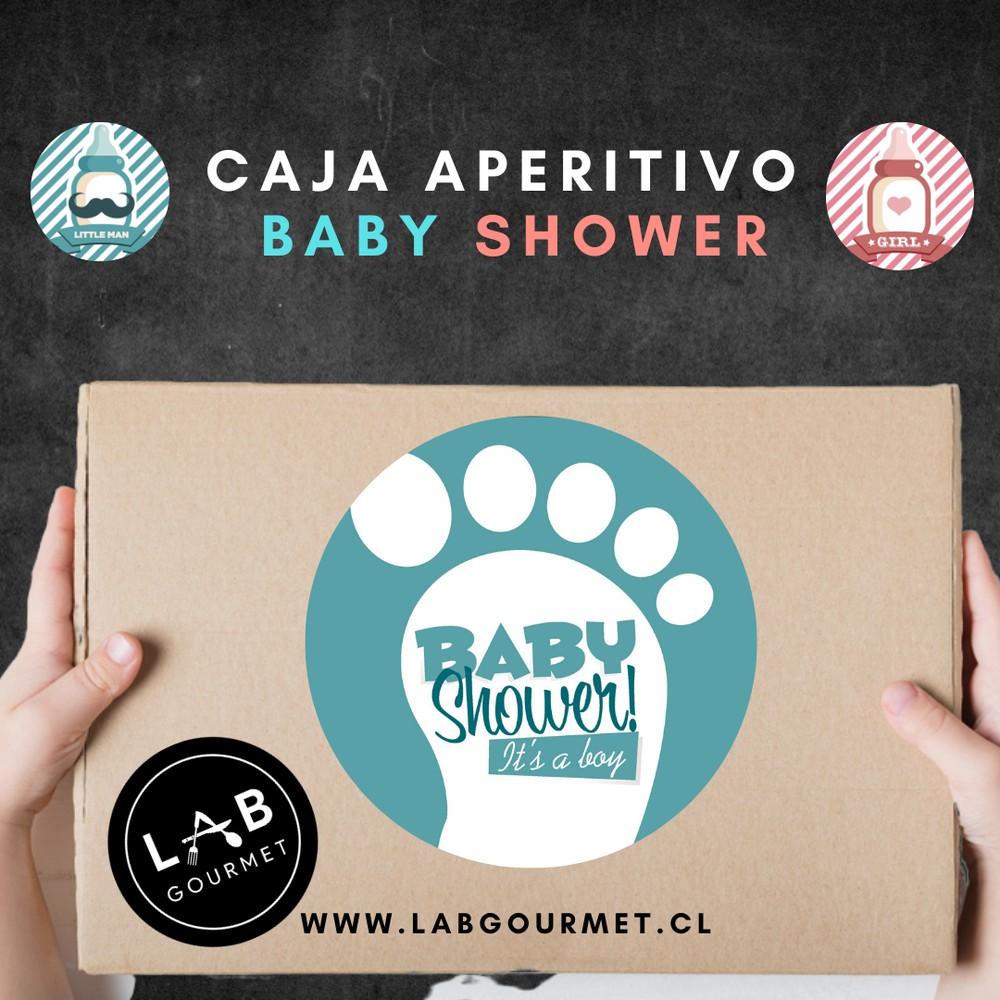 Aperitivo Baby Shower Niño + Espumante 1 caja