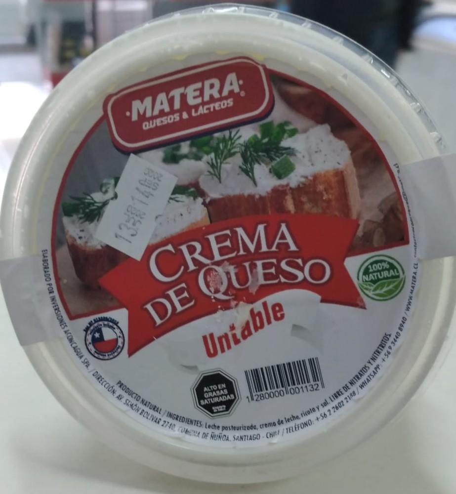 Crema de queso untable