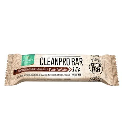 Cleanpro bar chocolate com cranberry e castanha de caju