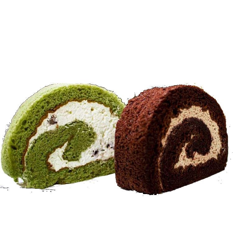 Rollo de matcha (reina de brazo asiatica sabor de matcha) 5 porciones