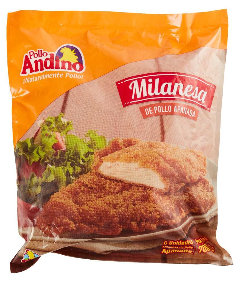 Milanesa de pollo Bolsa de 700 gr