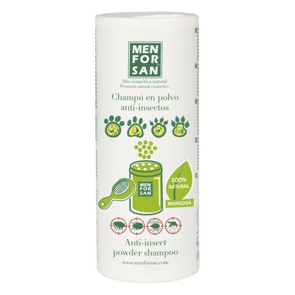 Champú shampoo en polvo anti-insectos perros, gatos, conejos