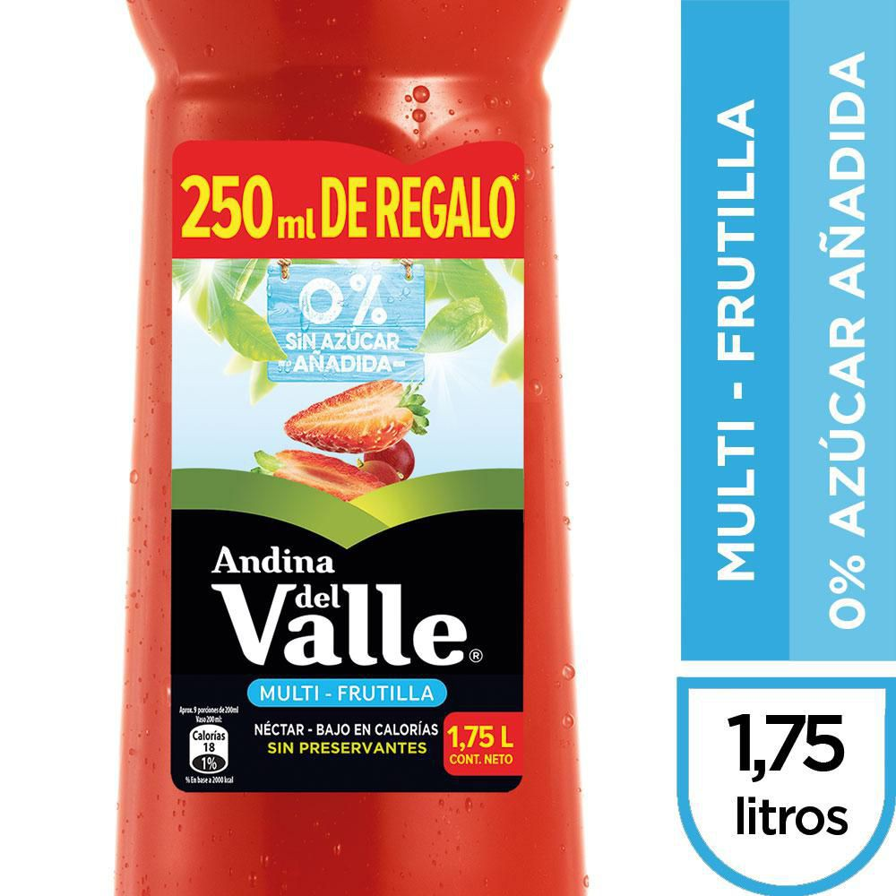 Néctar multi-frutilla 0% azúcar añadida