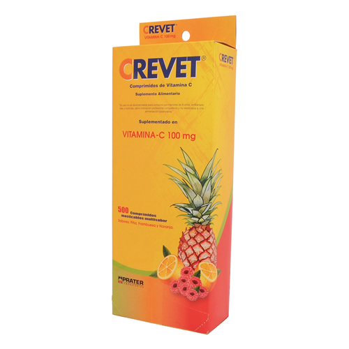 Crevet, Comprimidos de Vitamina C (500 Un) Caja 260 g