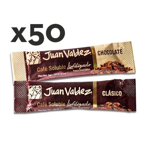 50 sticks café liofilizado chocolate