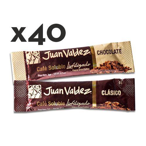 40 sticks café liofilizado chocolate