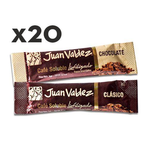 20 sticks café liofilizado chocolate