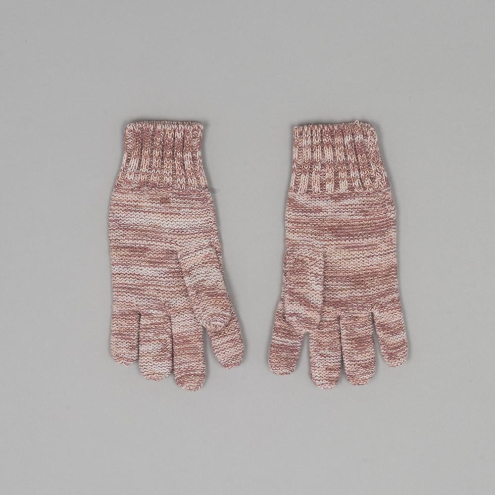 Guantes hilos dorados rosado
