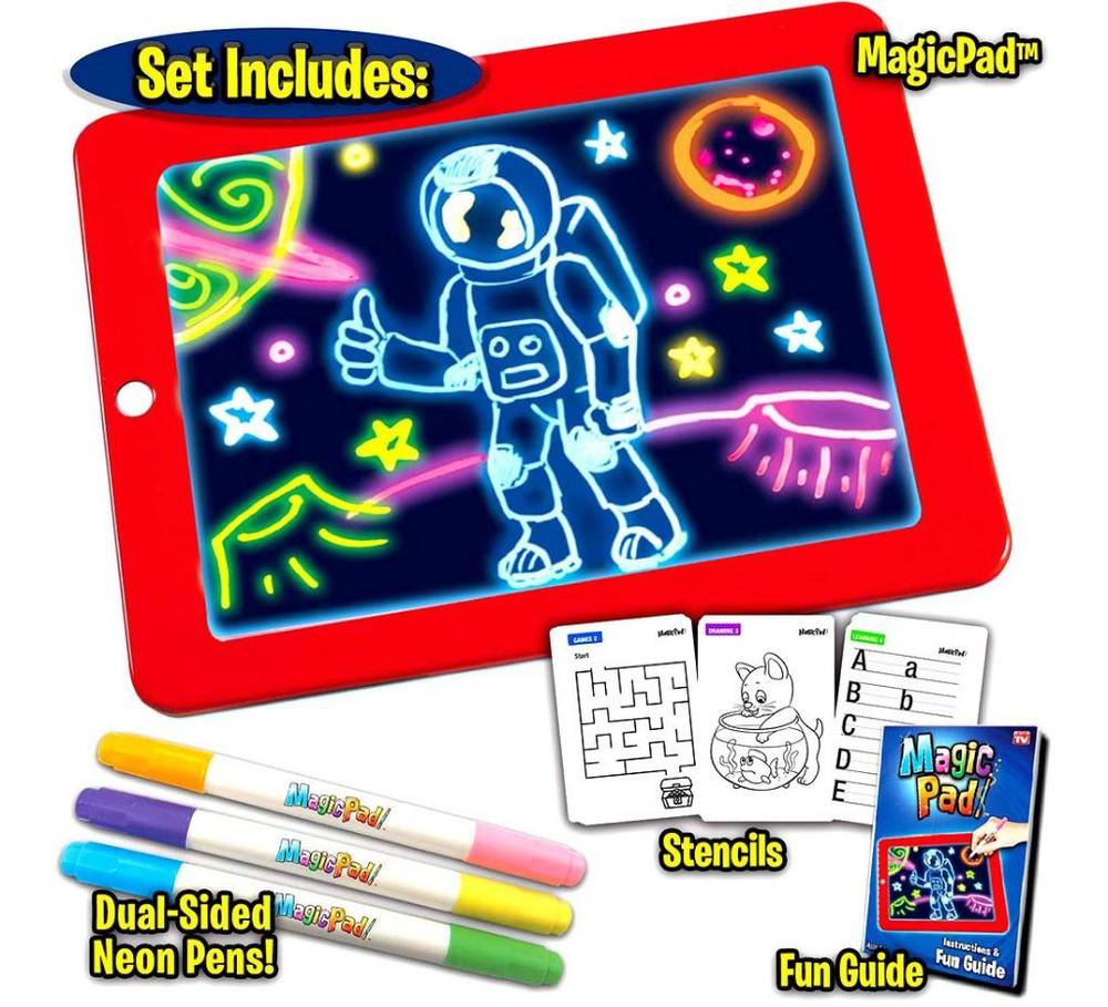 Pizarra magic pad deluxe (incluye accesorios) 21 x 27 cm
