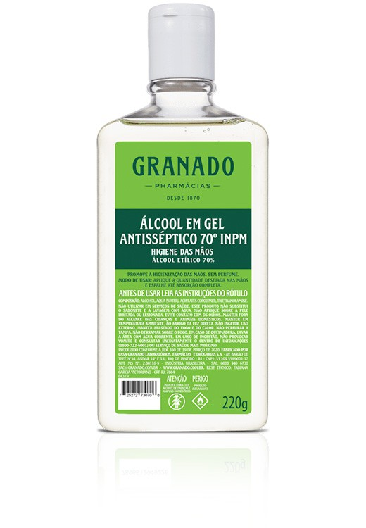 Álcool em gel antisséptico 220ml