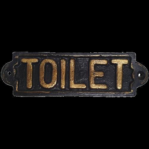 Placa fierro toilet PAQUETE  Medidas: 17x5 cm