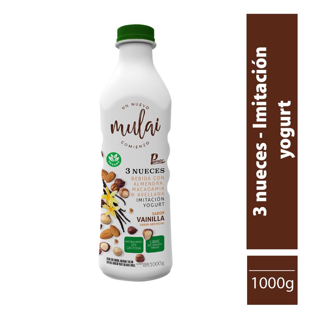 Bebida tipo yogur vegetal de tres nueces 1000 g