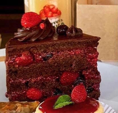 Trozo torta de choco berries, keto, sin azúcar, low carb 150 g aprox