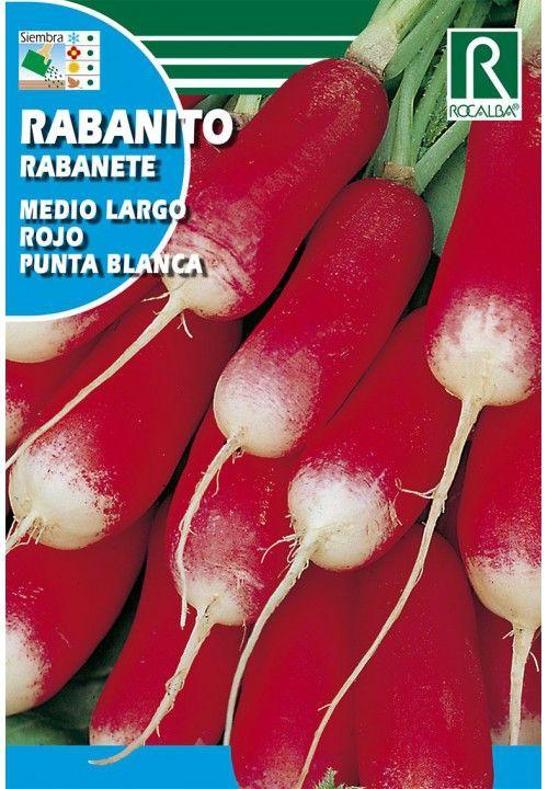 Rabanito medio largo rojo punta blanca 10 gr