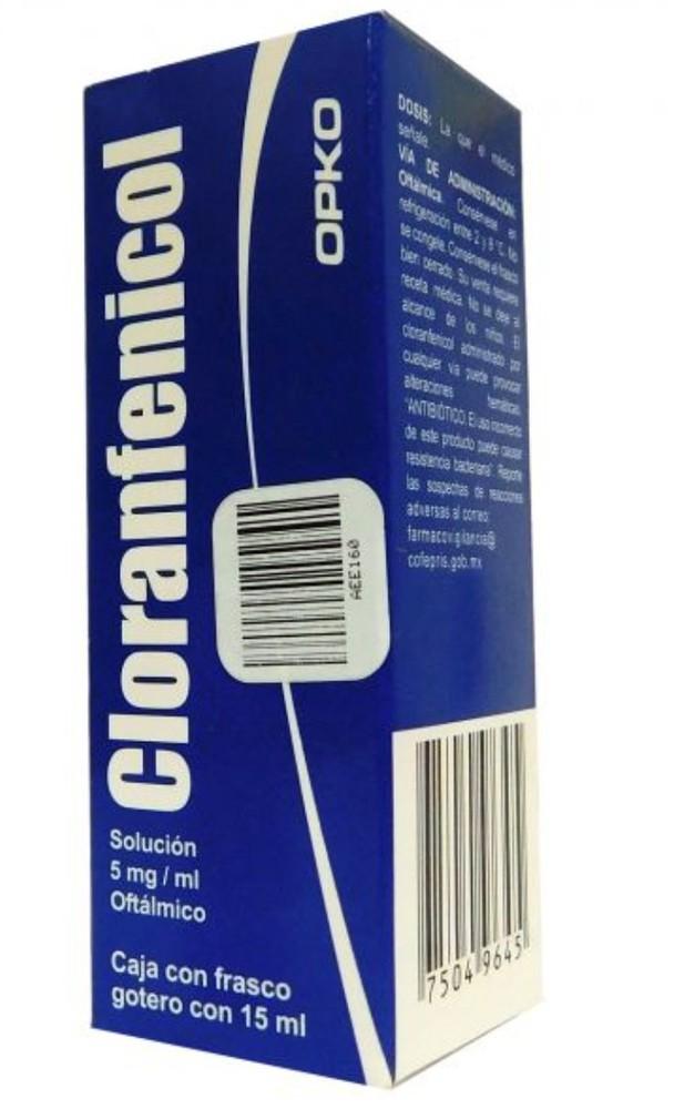 Cloranfenicol solución 5 mg