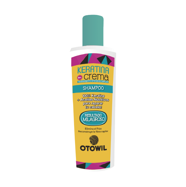 Keratina en crema shampoo frasco