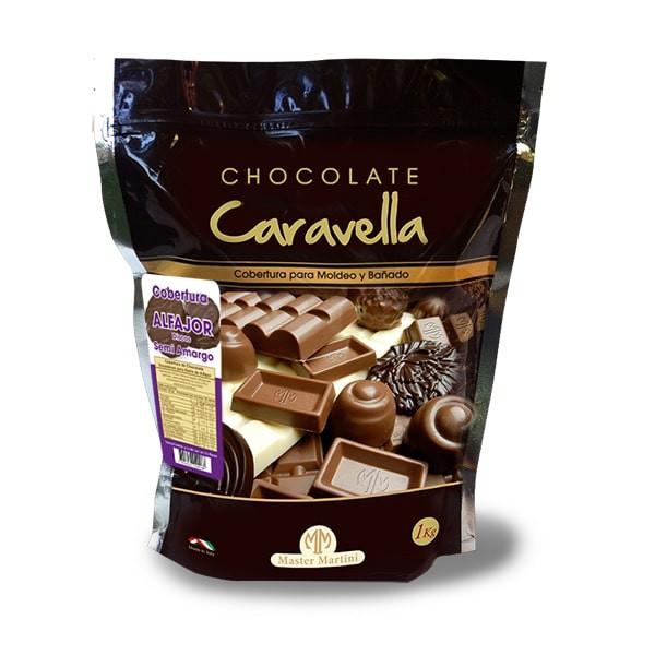 Cobertura discos chocolate semi amargo alfajor 1 kg