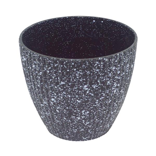 Matera plástica imitación piedra 13cm * 12cm