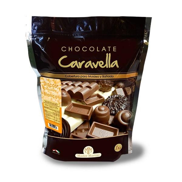 Discos de chocolate blanco para cobertura 1 kg