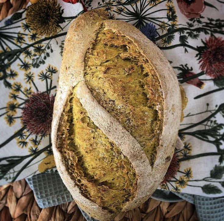 Pan cúrcuma semillas 800