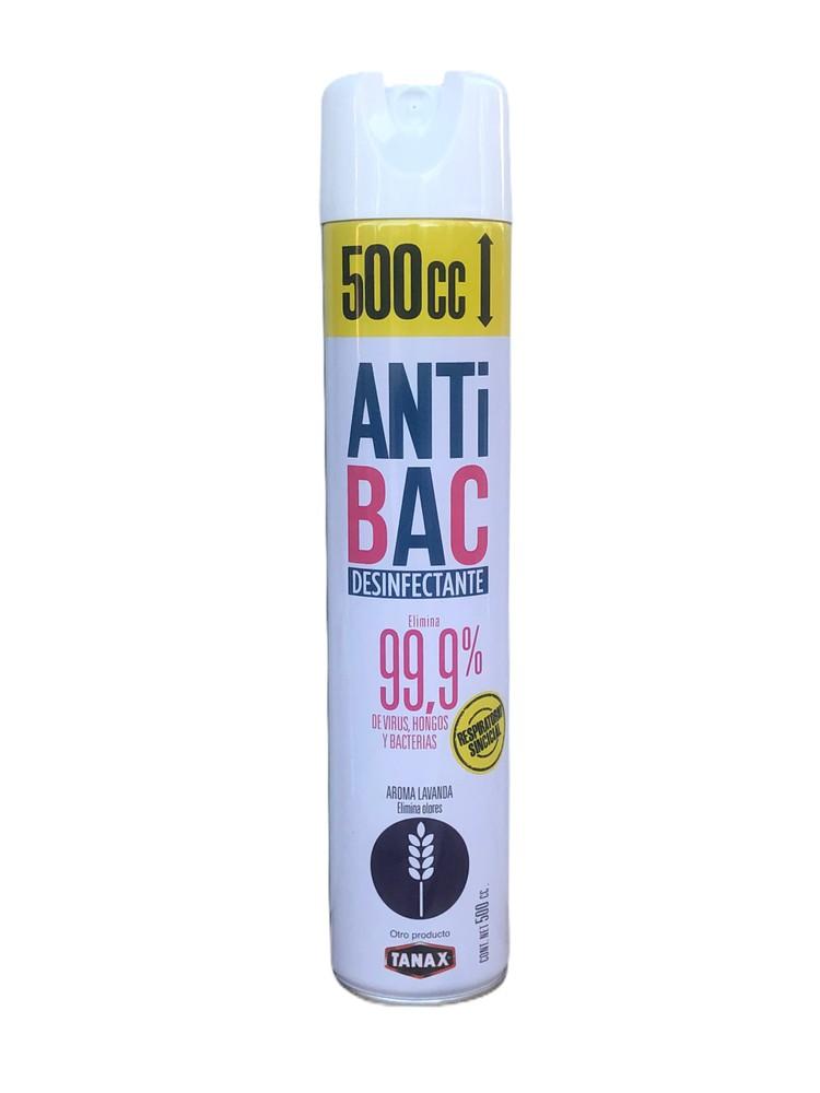 Antibac Desinfectante Ambiente y Superficies Aerosol 500 cc