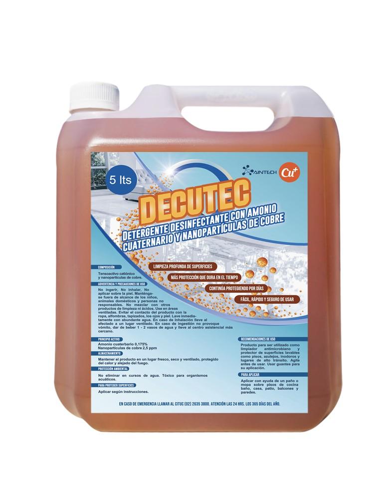 Desinfectante Amonio Cuaternario con Nanoparticulas de cobre. Listo! Bidón 5 Litros