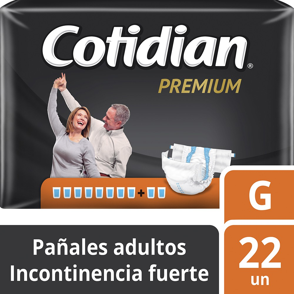 Cotidian premium talla G paquete 22 u