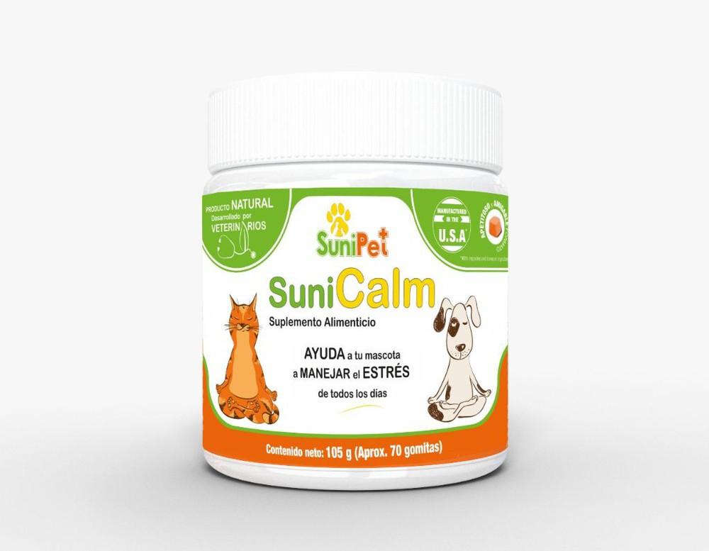 Calmante natural para perros y gatos Sunicalm 105 gramos, 70 gomitas
