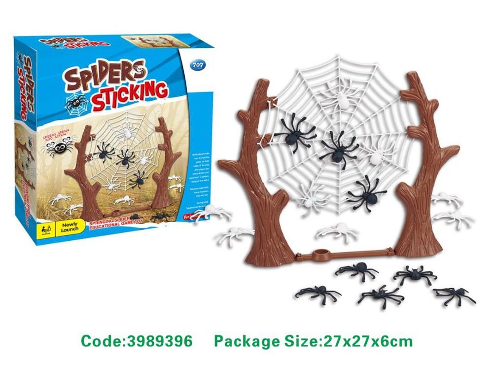 Juego quien cuelga mas arañas-3989396 27x27cm