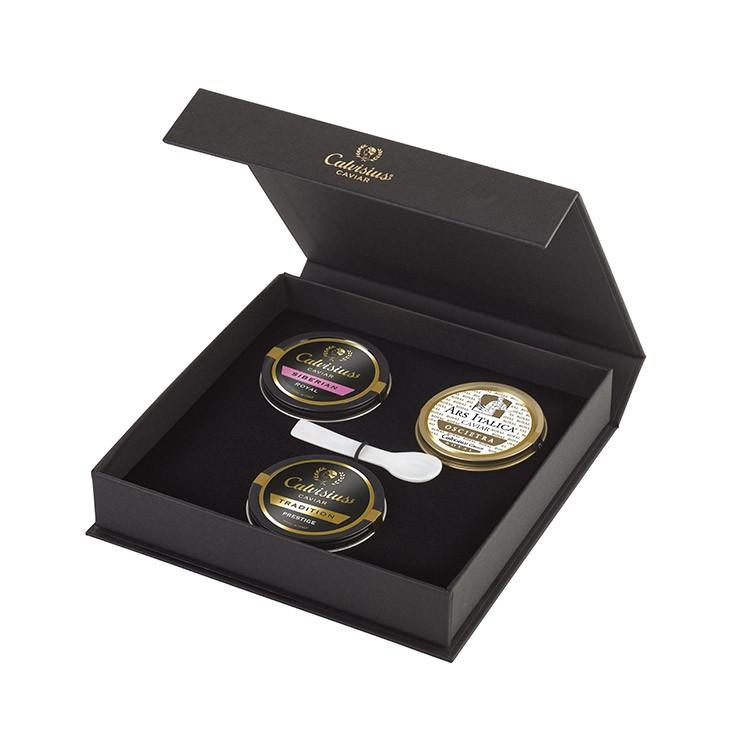 Caviar 3 tins of caviar gift box