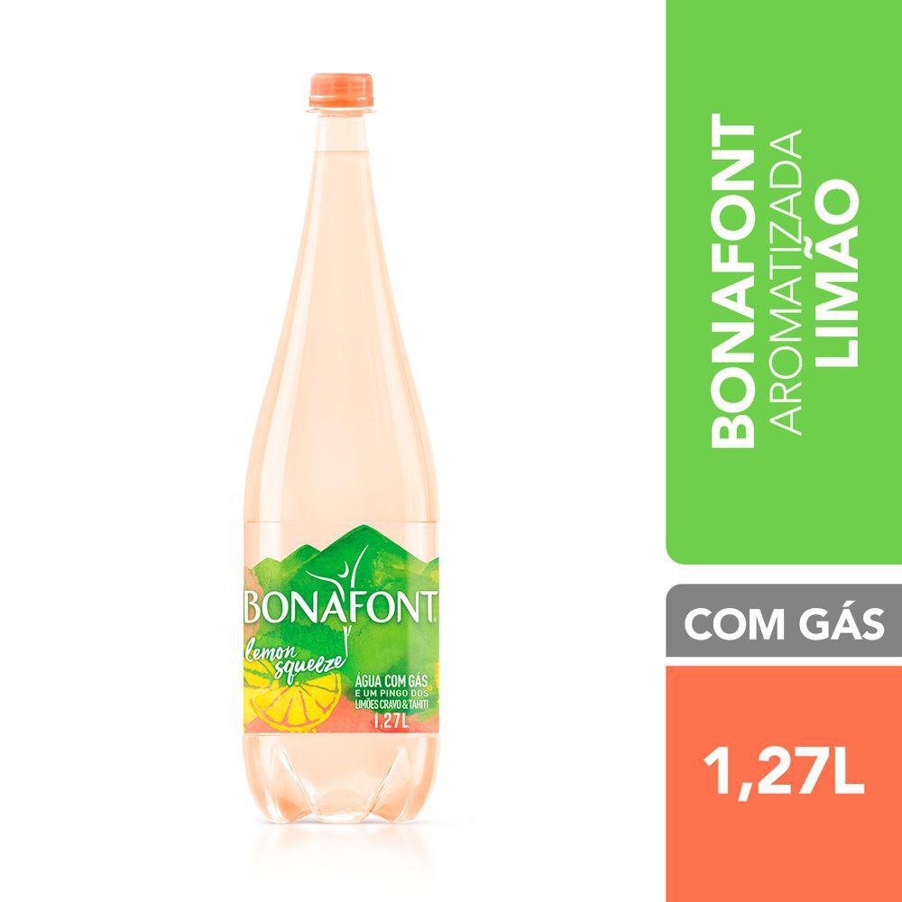 Água aromatizada com gás lemon squeeze