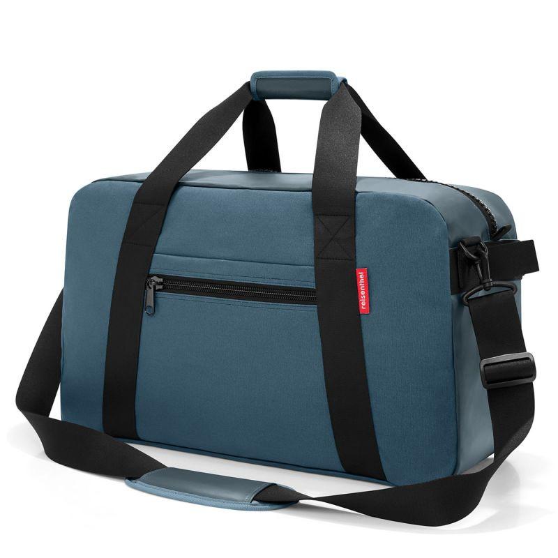 Bolso de viaje - traveller canvas blue Material: Lona Canvas.Medidas: 57 x 34 x 27 cm. Volumen: 55 litros