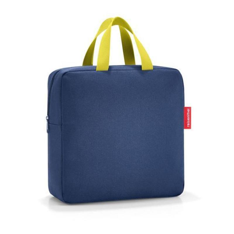 Lonchera - foodbox iso m navy Material: poliester de primera calidad, repelente al agua.Medidas: 28 x 28 x 10 cm.7 Litros