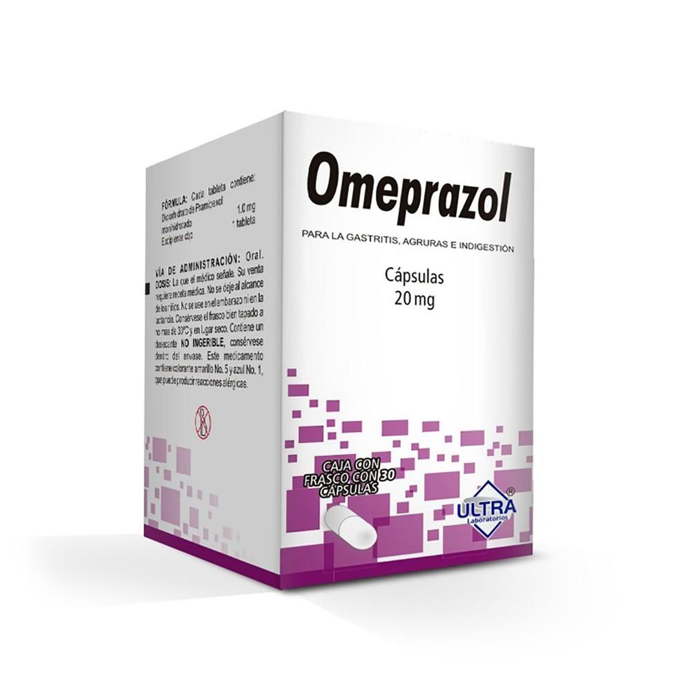 Omeprazol cápsulas 20 mg