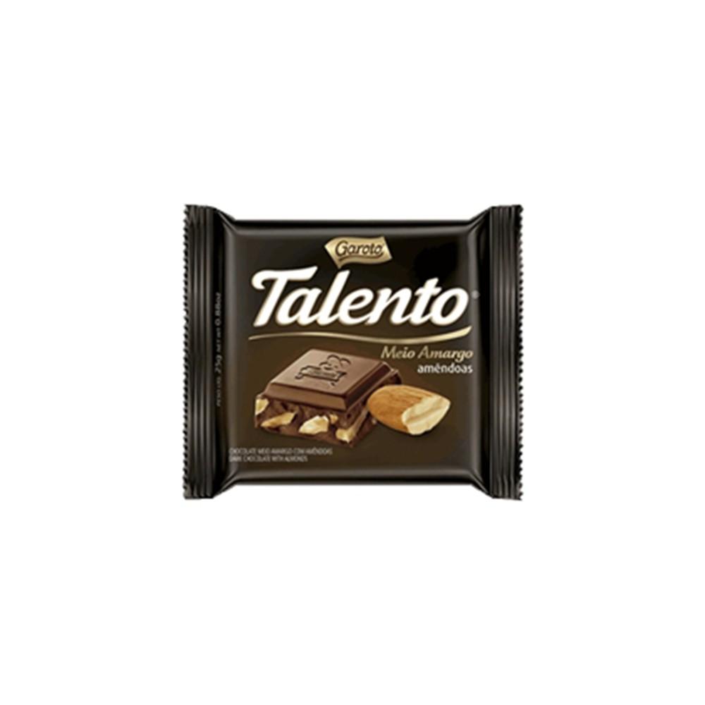Chocolate Talento mini amargo e amêndoa
