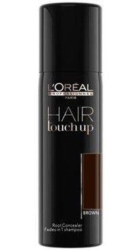 Hair touch brown