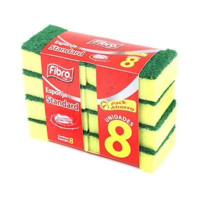 Pack esponja estándar 8 un