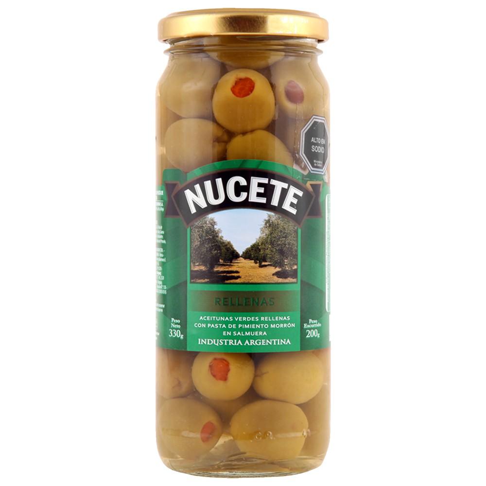 Aceitunas verdes rellenas con pimentón