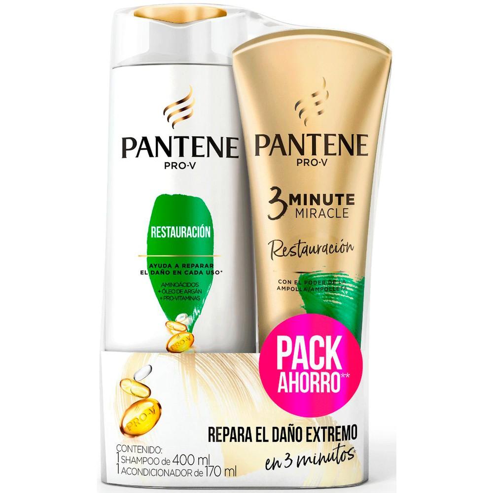 Pack Shampoo pro-v rest +Acondicionador 3 min