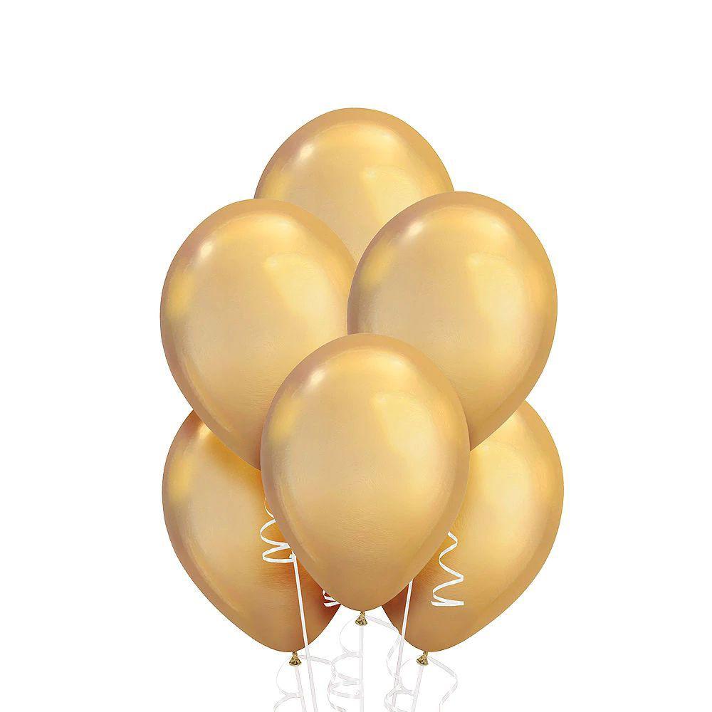 Globo liso 9 cromado dorado